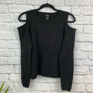 Peck & Peck Luxury Cold Shoulder Cashmere Sweater